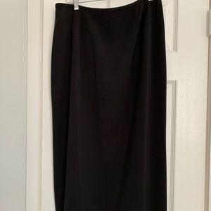Kasper Silky Boot Length Black Skirt!